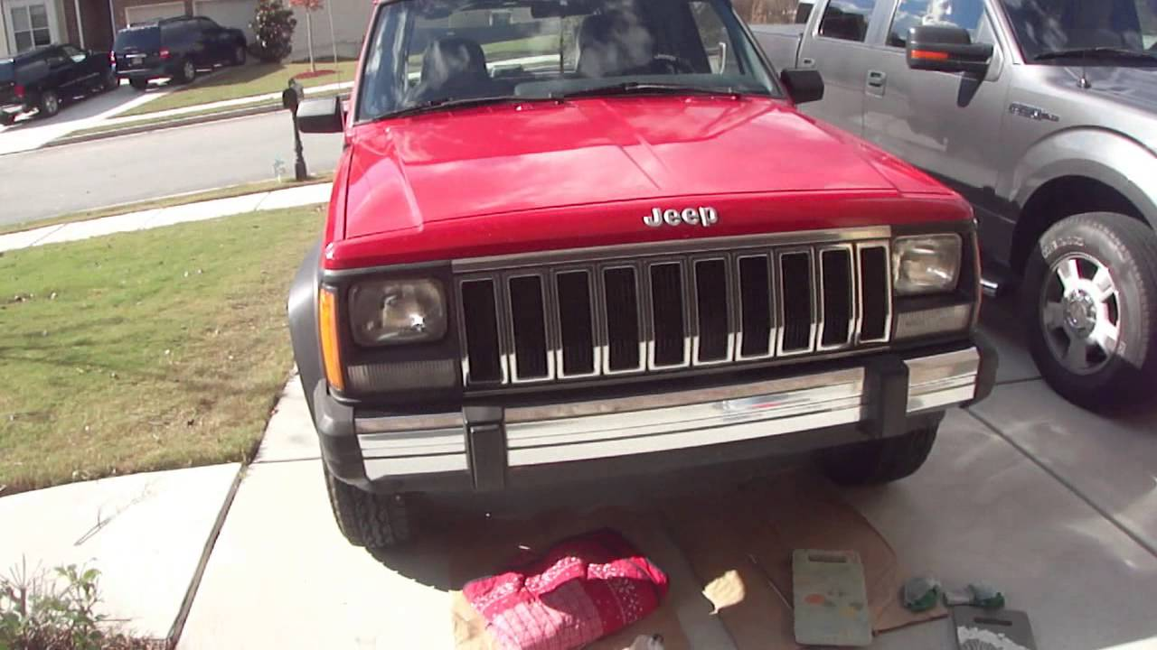 Custom 1996 Jeep Cherokee Chrome Bumpers And Grille