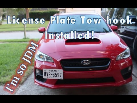 2015 Wrx 42 Front Tow Hook License Plate Mount Install Review