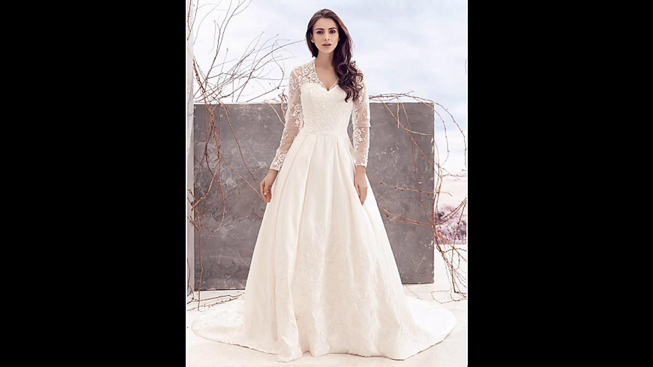 Las últimas tendencias Vestidos de novia ampones con manga ...