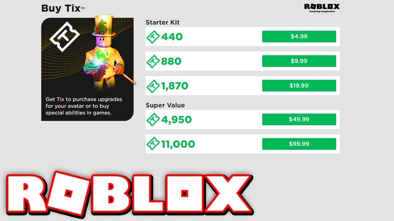Tix Are Coming Back To Roblox