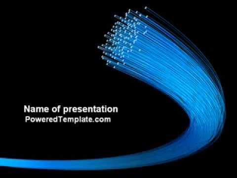 Optical fibre network powerpoint template by poweredtemplate optical fibre network powerpoint template by poweredtemplate youtube toneelgroepblik Images