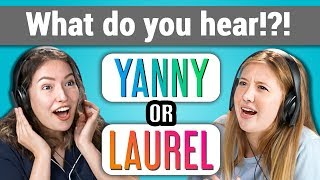 yanny or laurel what do you hear? react