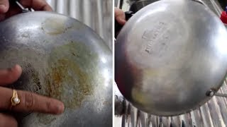 HOW TO CLEAN NON STICK KADAI/PAN BACKSIDE||RAMA SWEET HOME