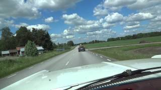 Pontiac Catalina 2+2 1966  Driving  down  Haraker Country Road (Sweden)