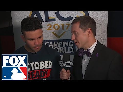 Jose Altuve with Ken Rosenthal after Game 1 of ALCS | 2017 MLB Playoffs | FOX MLB
