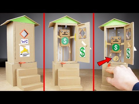 How to Make FUNNY COIN BANK BOX