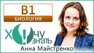 B1 по Биологии Демоверсия ГИА 2013 Видеоурок