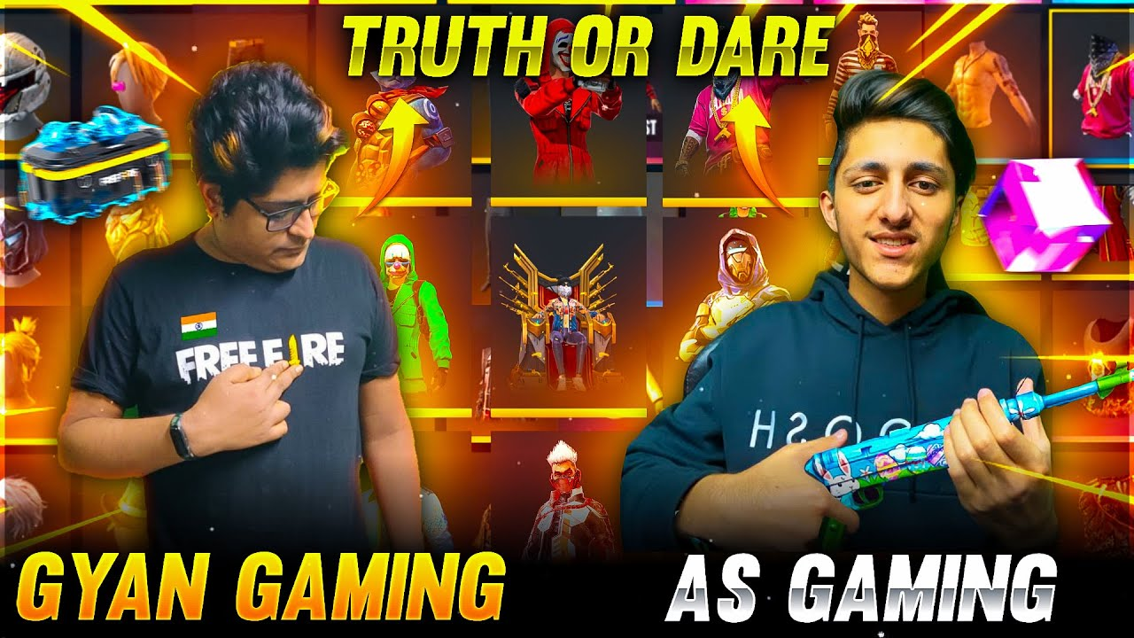 Truth & Dare Challenge As Gaming Vs Gyan Gaming Richest Collection | Garena Free Fire