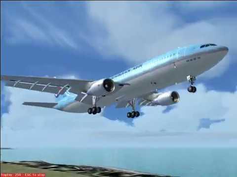 (FS2004) A300-600 (Gimpo -- Jeju) IFR (part2)