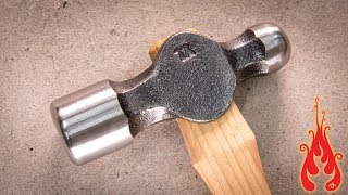 Blacksmithing - Making a ball peen hammer