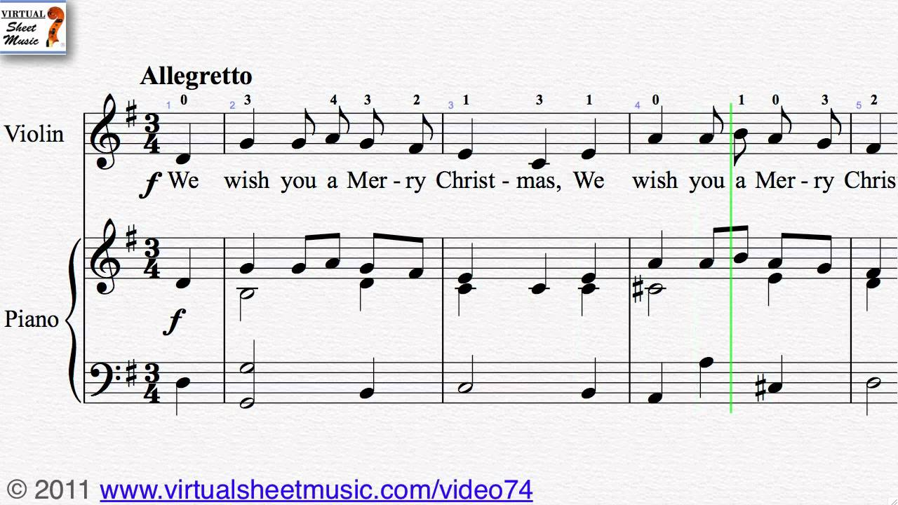 We Wish You A Merry Christmas - Christmas Sheet Music Video Score ...