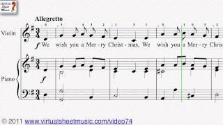 Video We Wish You A Merry Christmas - Christmas Sheet Music Video Score download MP3, 3GP, MP4, WEBM, AVI, FLV November 2018