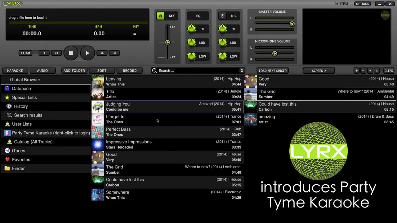 LYRX Karaoke Software | Using With Party Tyme Karaoke Subscription