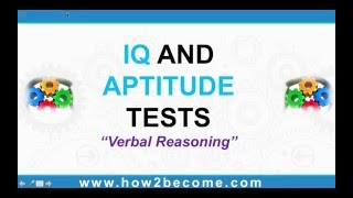 ✔ IQ AND APTITUDE TESTS; Verbal Reasoning - How to pass IQ tests