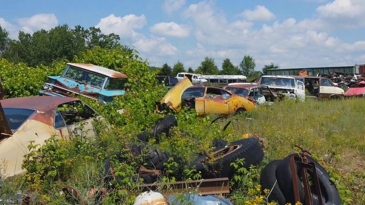 Hidden Classic Car Junk Yard - YouTube
