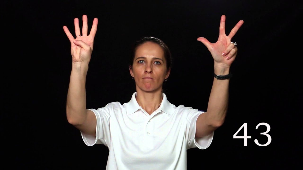 Volleyball Training Referee Signal Of Player S Numbers For A Violation Youtube