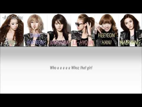 EXID - Whoz That Girl Lyrics HAN-ROM-ENG COLOR+MEMBER CODED