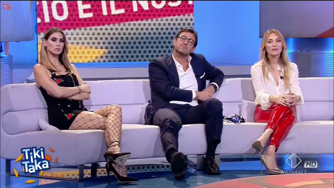 Melissa Satta CALZE A RETE da sega - Tiki Taka 720p HD - YouTube