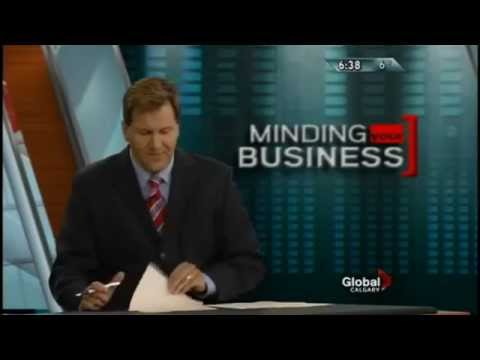 Global TV Business Anchor - Reporter Minding Your Business