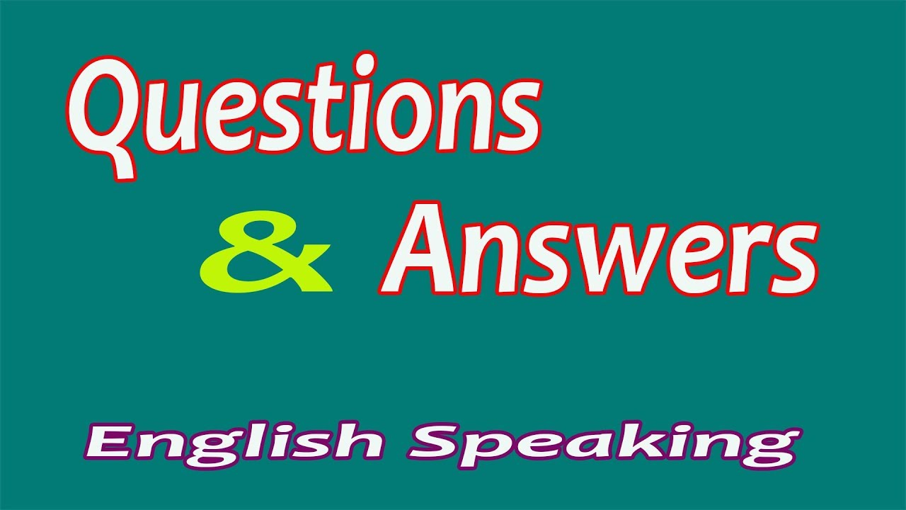 English Speaking | Questions and Answers in English Daily