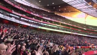 Crystal Palace fans at Arsenal away (02/02/14)