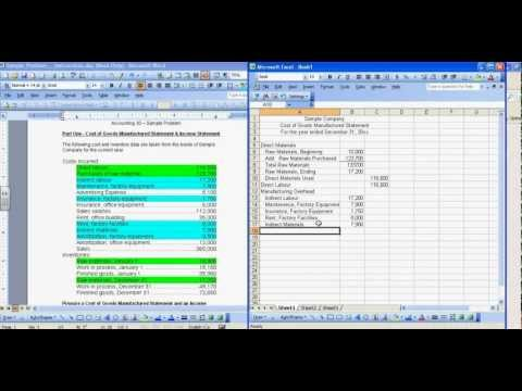 Cost of Goods Manufactured and Income Statement Sample.mp4