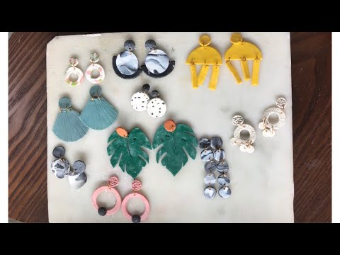 How to make fancy Polymer Clay Earrings