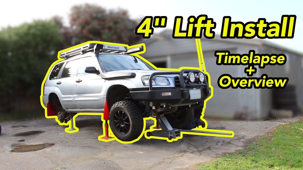 installing a 4 lift on a subaru youtube installing a 4 lift on a subaru