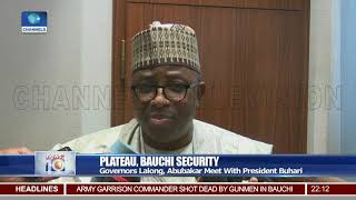 Plateau, Bauchi Security: Governor Lalong, Abubakar Meet With President Buhari