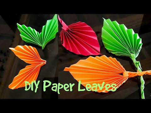 DIY paper leaves l how to make paper leaves