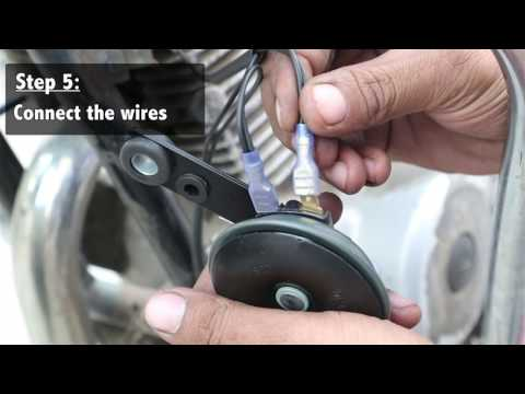 How to fit or replace horn in your bike or motorcycle