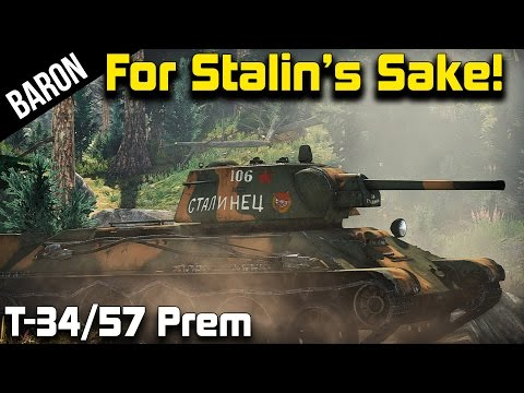 War Thunder Soviet Tanks - For Stalin's Sake, the T-34/57 Pr