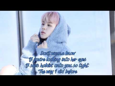 Duet with Jimin (Karaoke) - We Don't Talk Anymore Instrumental + Lyrics
