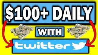How To Make Money On Twitter - Make $100+ DAILY! ( Beginner Friendly)
