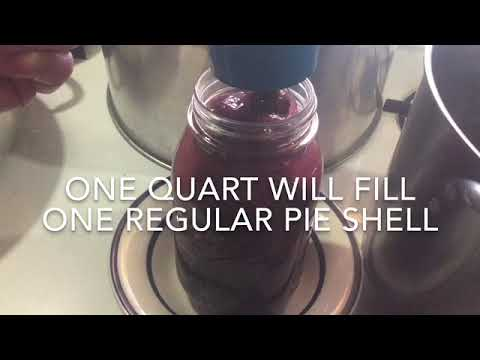 How to safely can cherry pie filling