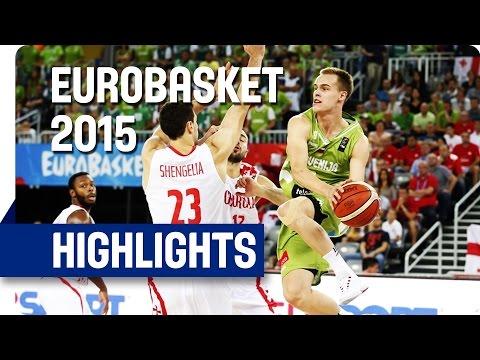 Slovenia v Georgia - Group C - Game Highlights - EuroBasket 2015