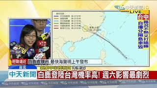 【白鹿颱風動態】白鹿登陸台灣機率高!週六影響最劇烈