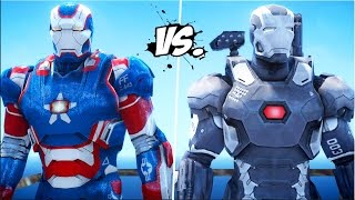 IRON MAN VS IRON MAN - Iron Patriot vs War Machine | Death Fight