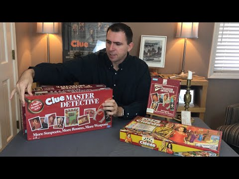 Clue Master Detective Board Game Remake - Unboxing, Review And Old Vs. New Comparison. Expansion