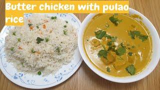 Butter Chicken With Pulao Rice ബടടർ ചകകൻ വതത പലവ റസ