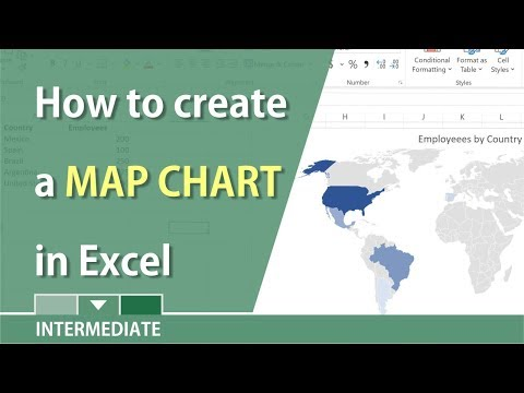 Create a Map chart in Excel 2016 by Chris Menard - YouTube