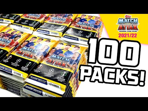 Download Opening *100 PACKS* of MATCH ATTAX 2021/22!! (1200 cards!!)