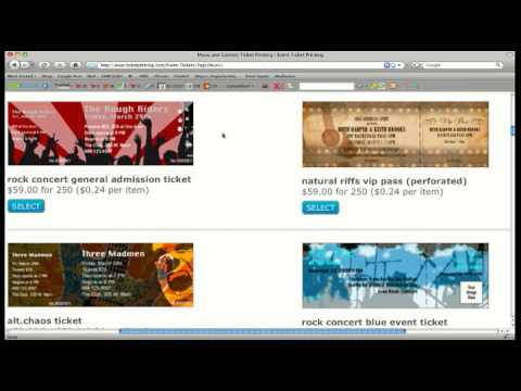 Event Tickets From TicketPrinting - YouTube - how to make tickets on word