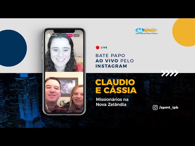 LIVE APMT com Claudio e Cássia Gonçalves | Missionários na Nova Zelândia