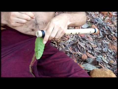 Как сделать дудочку из бамбука