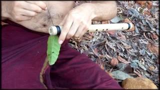 Как сделать флейту в походных условиях.