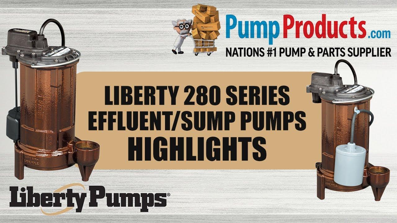 Liberty Pumps 280-Series Submersible Effluent//Sump Pump 287-VMF 1//2 HP