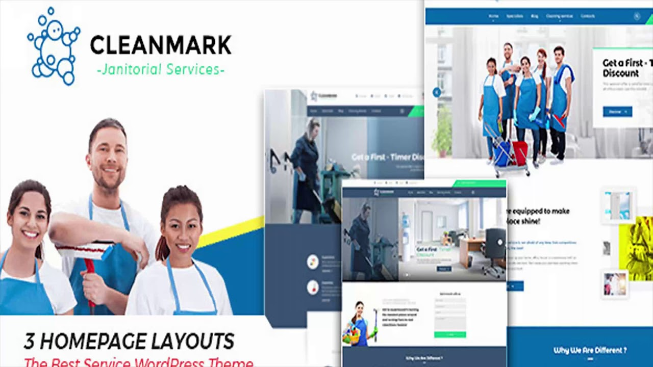 Cleanmark Cleaning Janitorial Service WordPress Theme Themeforest Website Templates And Themes