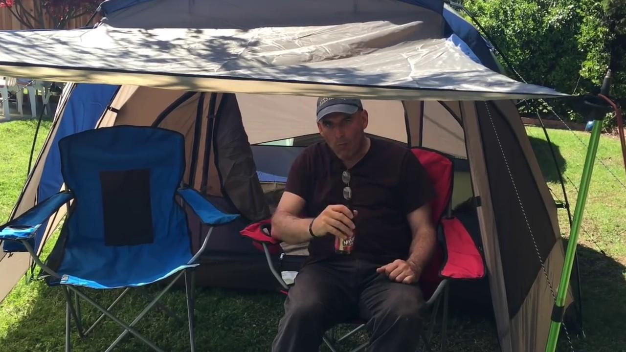 Field u0026 Stream Wilderness Lodge 4 person dome tent with a vestibule.  sc 1 st  YouTube & Field u0026 Stream Wilderness Lodge: 4 person dome tent with a ...