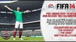 "FIFA 14 | New Celebration! ""Riding the Wave"""